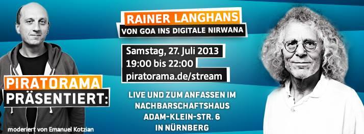 Veranstaltung mit Langhans am 27. Juli 2013 in Nuernberg