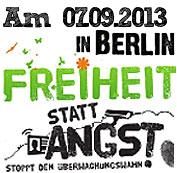 Banner Demo Freiheit statt Angst 2013
