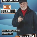 Kandidatenplakat Hans Patzelt