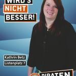 Kandidatenplakat Kathrin Betz