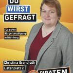 Kandidatenplakat Christina Grandrath