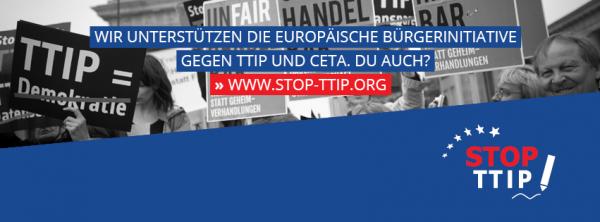 Link zur selbstorganisierten europäischen Bürgerinititative gegen TTIP und CETA